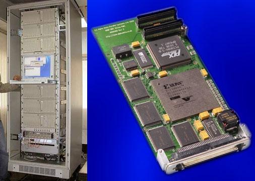Слева на фото: 16-ти процессорный кластер. Справа: мозг Гидры