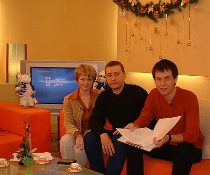 В телестудии во время прямого эфира